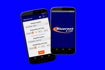 Αndroid Smart phone? Download Blue-rent app for quick & easy car rental